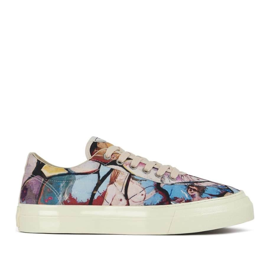 Stepney Workers Club x Endless Joy Dellow Mens Canvas Shoes - Cracked Earth | Shoes by Stepney Workers Club 1