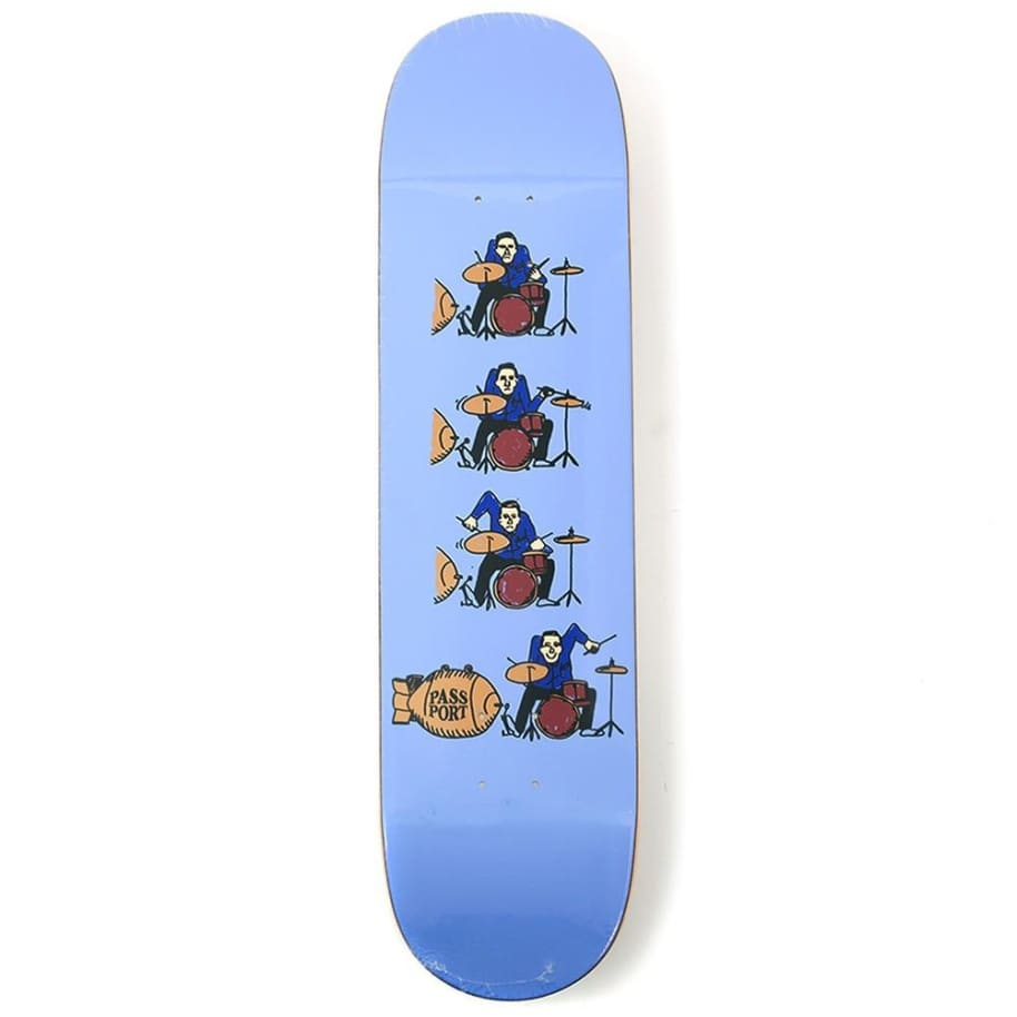 """Pass~Port Skateboards - Pass~Port What U Thought Drums Skateboard Deck Purple 