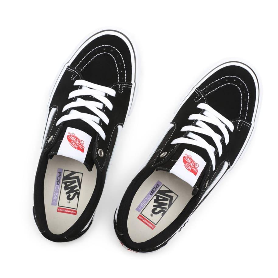 Vans Skate Sk8-Low Pro Shoes - Black / White   Shoes by Vans 5