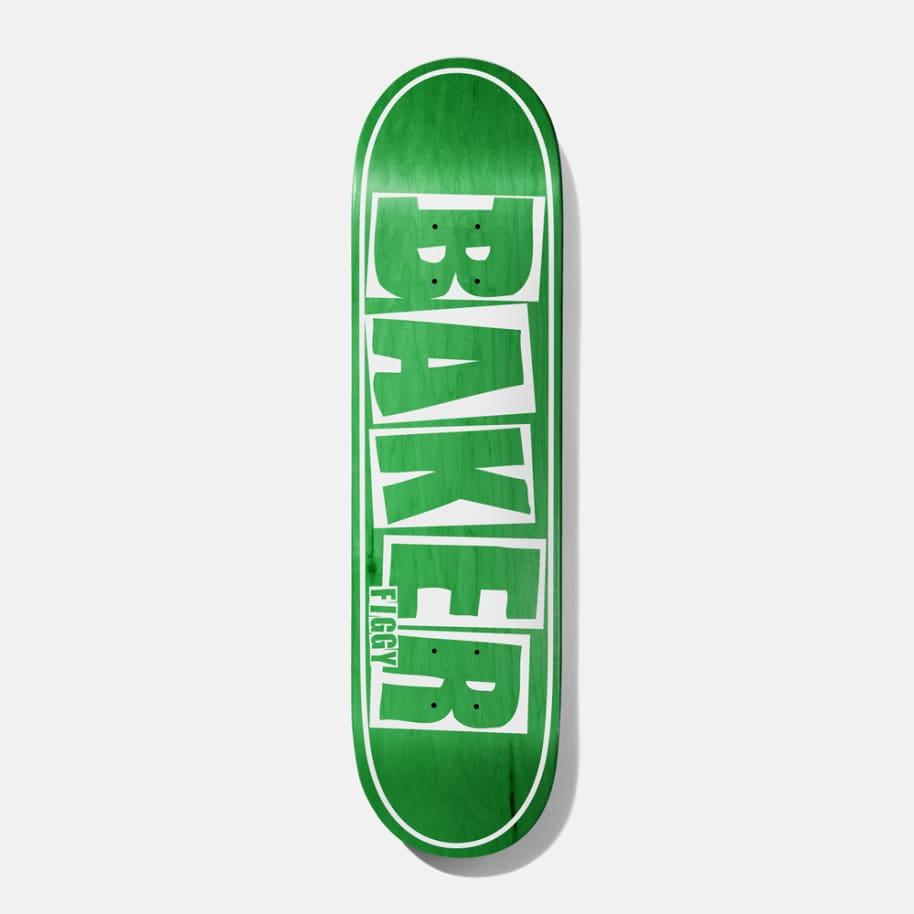 Baker Skateboards Figgy Brand Name Green Veneer Skateboard Deck - 8.25 | Deck by Baker Skateboards 1