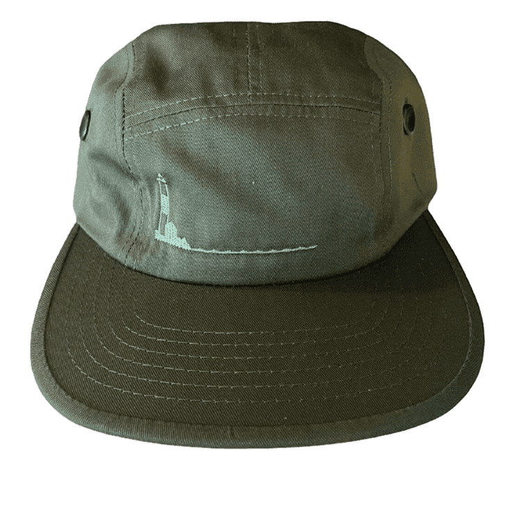 Poets Turtle Hill 5 Panel - Army Green   Baseball Cap by Poets Brand 1
