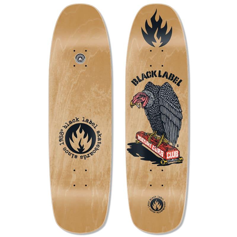 "Black Label Vulture Curb Club Deck (Natural Stain) 8.88"" x 32.25"" | Deck by Black Label 1"