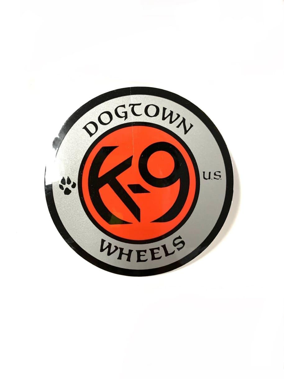 Dogtown Skateboards K-9 Wheels Circle Sticker   Sticker by Dogtown 1