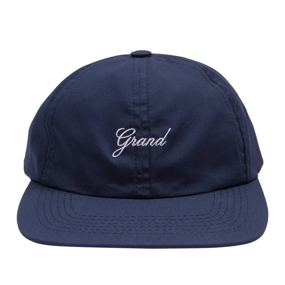 Grand Collection Script 6 Panel Cap - Navy | Baseball Cap by Grand Collection 1