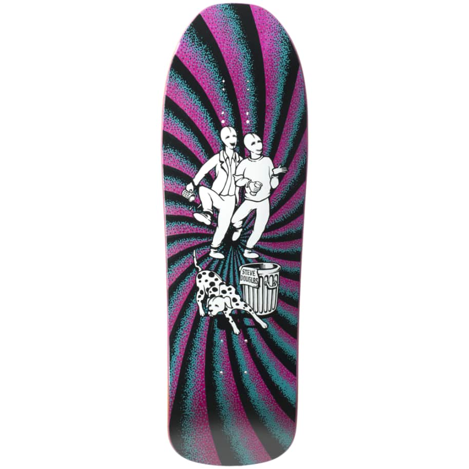 """New Deal Douglas Chums Reissue Screen Printed Deck 9.75"""" (Pink)   Deck by New Deal Skateboards 1"""