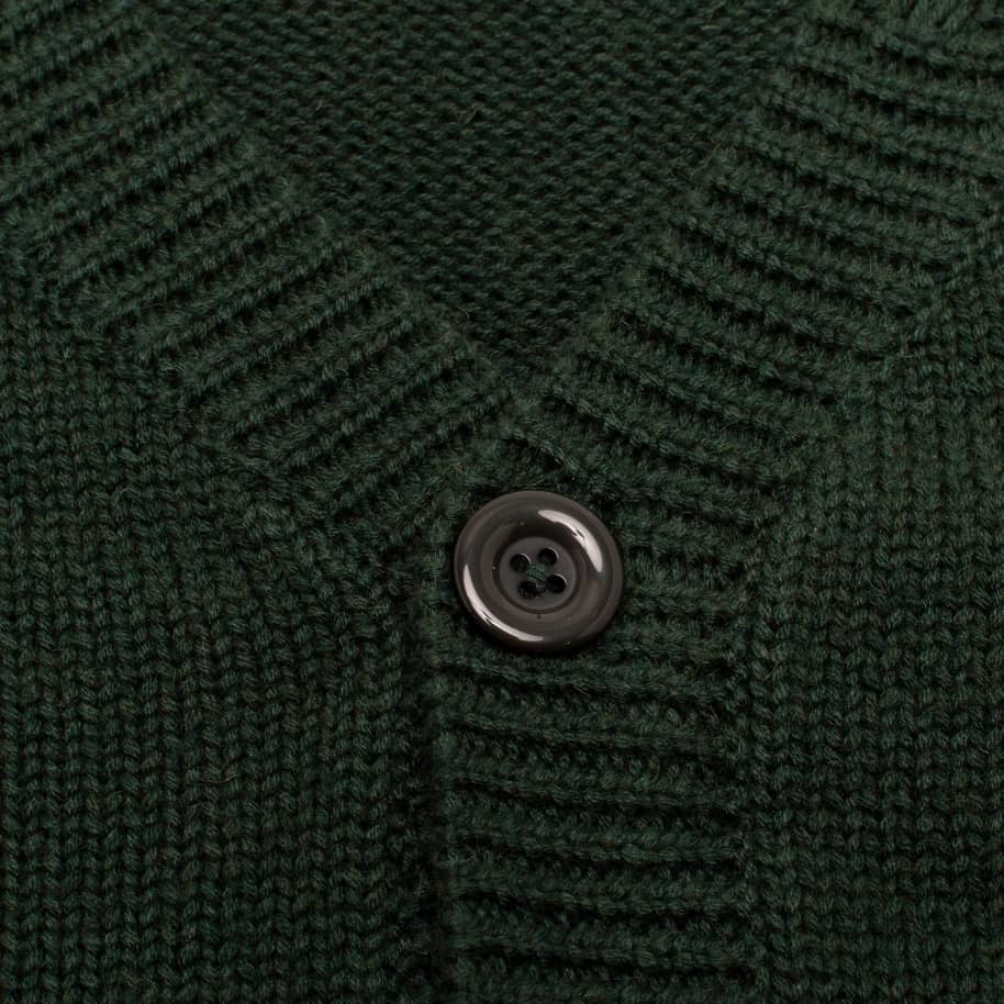 Fucking Awesome Distressed Flower Cardigan - Forest Green | Cardigan by Fucking Awesome 2