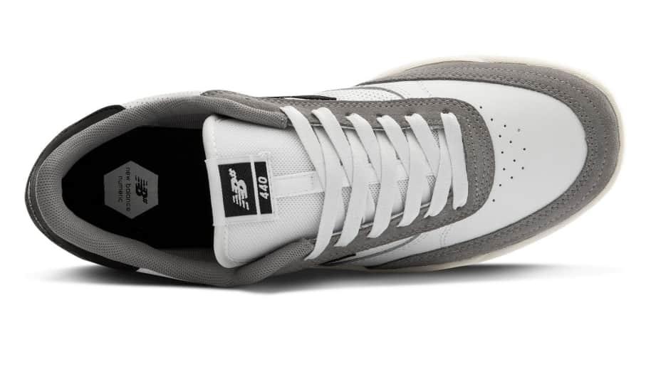 New Balance Numeric 440 Skate Shoe - Munsell White / Grey   Shoes by New Balance 3