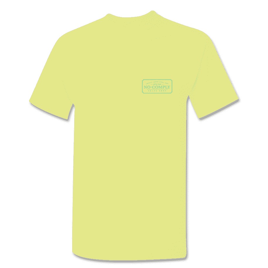 No-Comply Locally Grown Shirt - Banana Cream Emerald   T-Shirt by No Comply 2