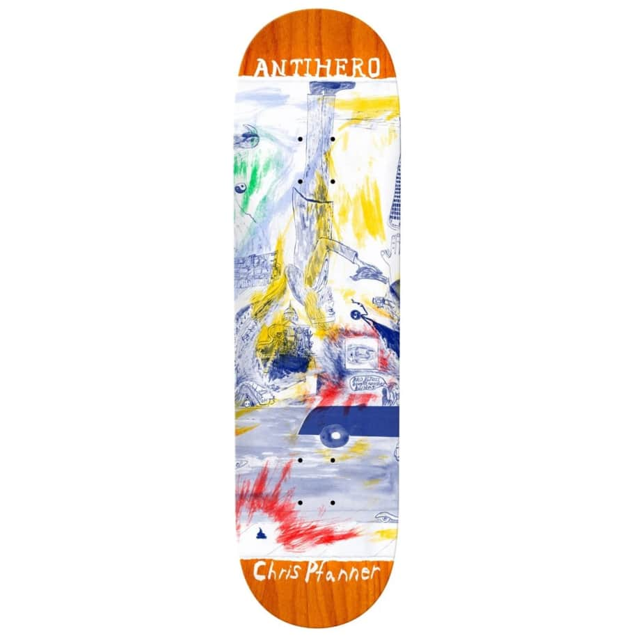 Anti Hero Pfanner SF Then & Now Deck- 8.06   Deck by Antihero Skateboards 1