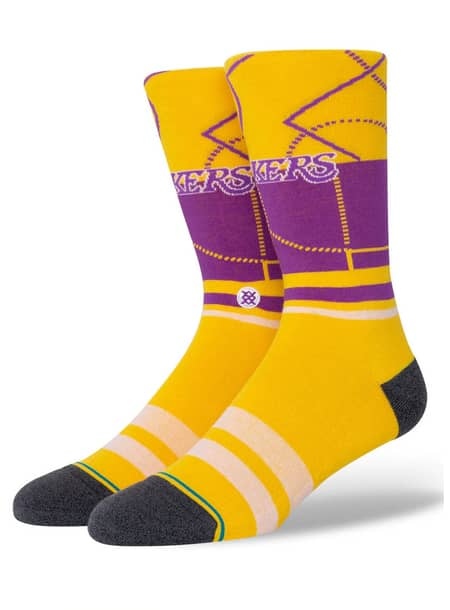 STANCE LAKERS GRADIENT - YELLOW | Socks by Stance Socks 1