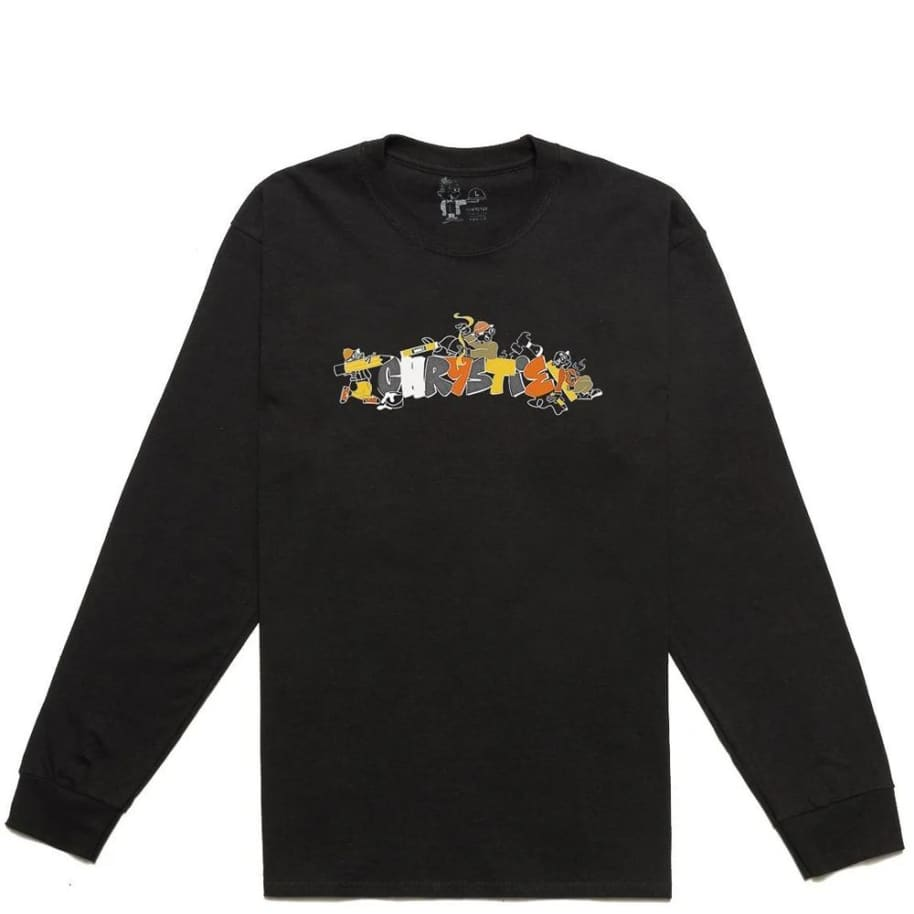 Chrystie NYC NYC Workers Long Sleeve T-Shirt - Black | Longsleeve by Chrystie NYC 1
