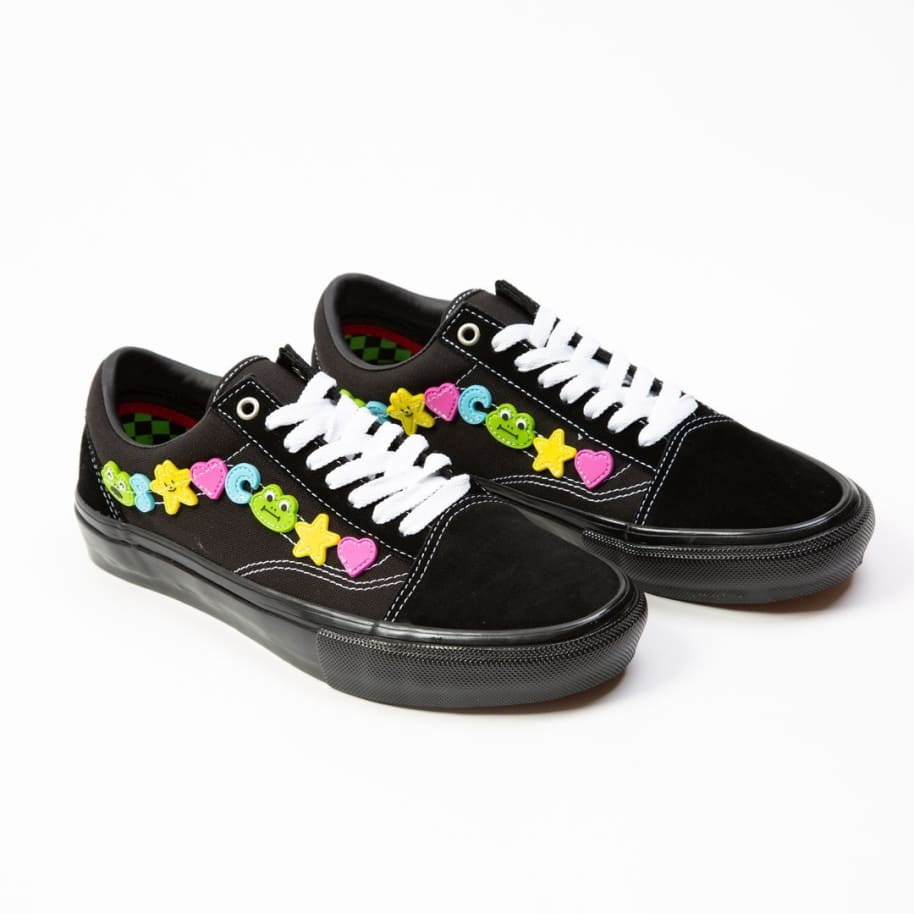 Vans x Frog Skate Old Skool Pro Skate Shoes - Black / Black | Shoes by Vans 2
