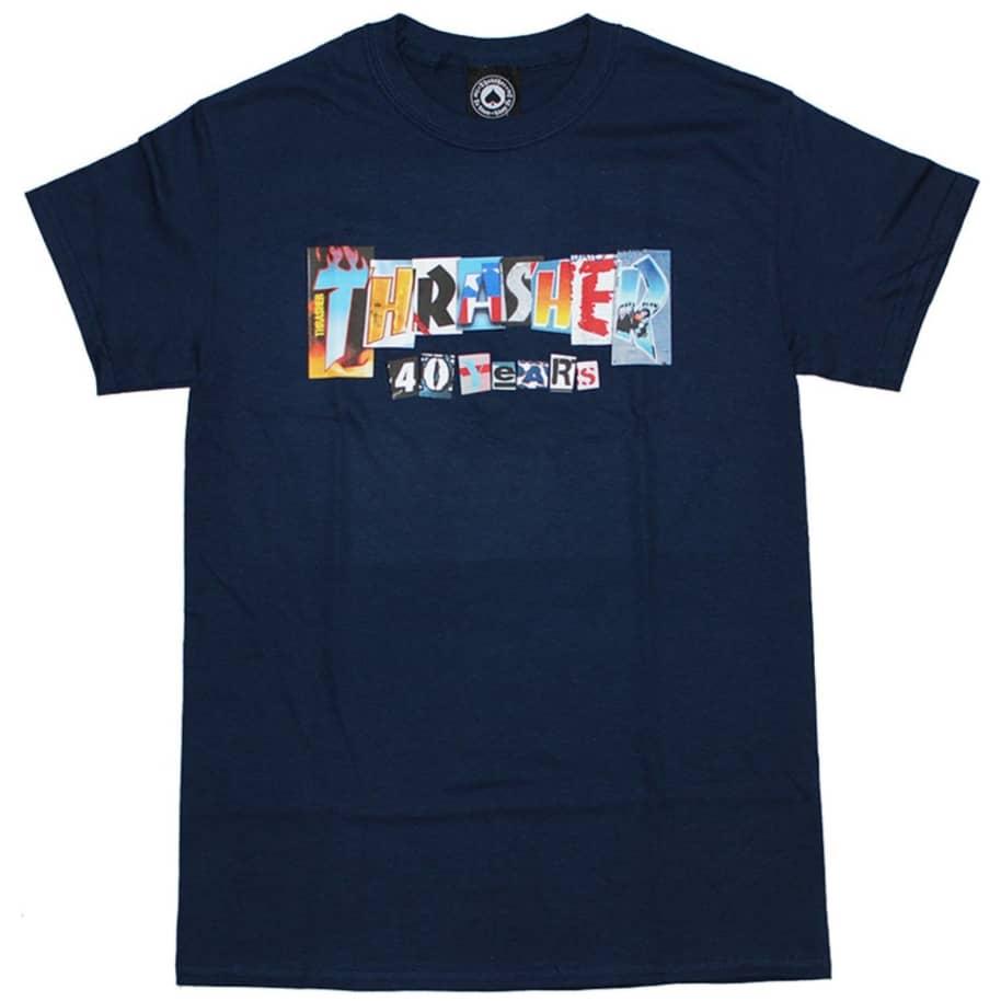Thrasher 40 Years T-Shirt - Navy | T-Shirt by Thrasher 1
