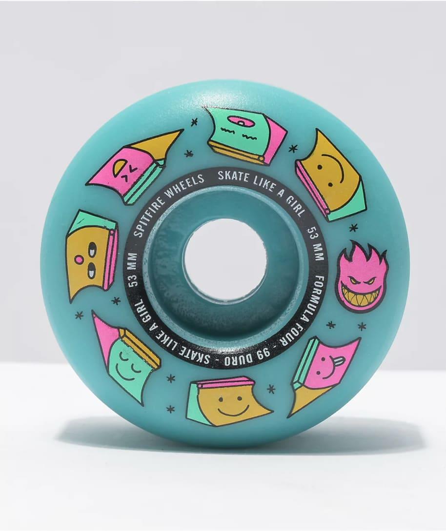 Spitfire - 99 Formula 4 Radial Skate Like A Girl Wheels (53mm) | Wheels by Spitfire Wheels 1