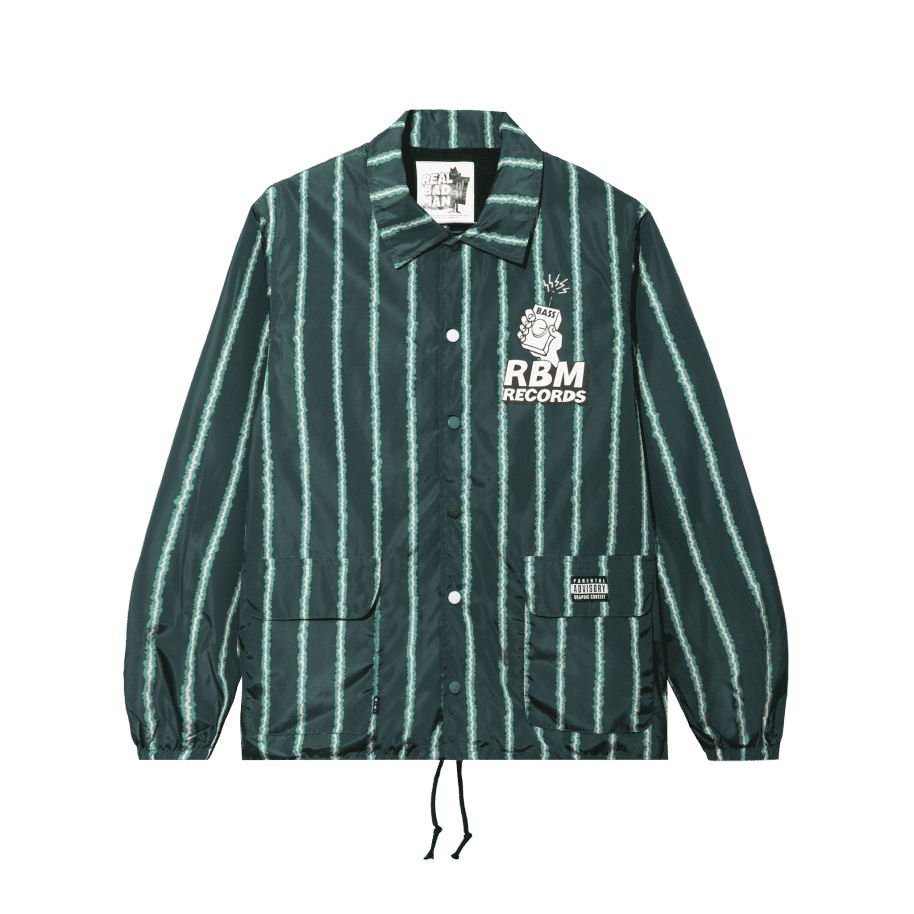 Real Bad Man RBM Records Coaches Jacket - Watermelon | Coach Jacket by Real Bad Man 2