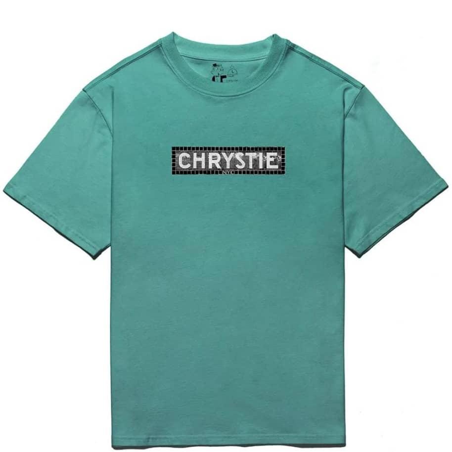 Chrystie NYC Station Logo T-Shirt - Jade Green | T-Shirt by Chrystie NYC 1