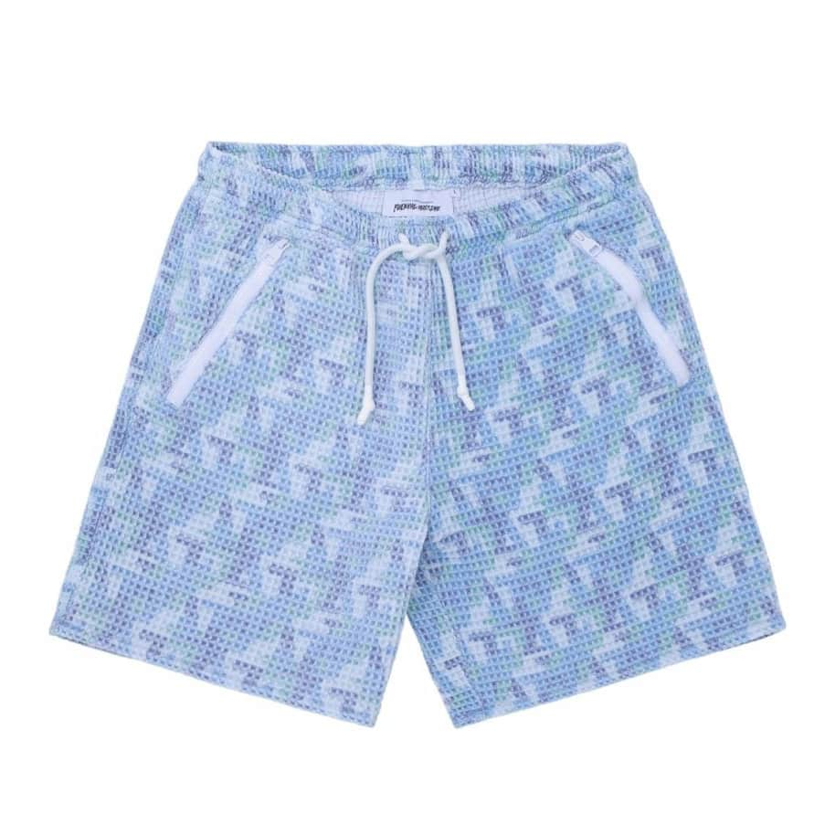 Fucking Awesome Shorts Baggie Waffle - Blue | Shorts by Fucking Awesome 1