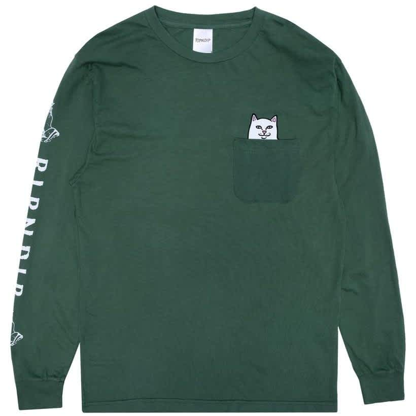 Ripndip Lord Nermal Long Sleeve T-Shirt - Olive | Longsleeve by Ripndip 1