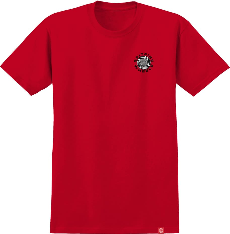 SPITFIRE Classic 87 Swirl Tee Red/Black | T-Shirt by Spitfire Wheels 2