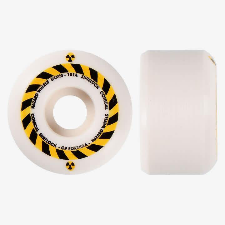 Madness Hazard Sign CP Conical Surelock Skateboard Wheels - 53mm | Wheels by Hazard Wheels 1