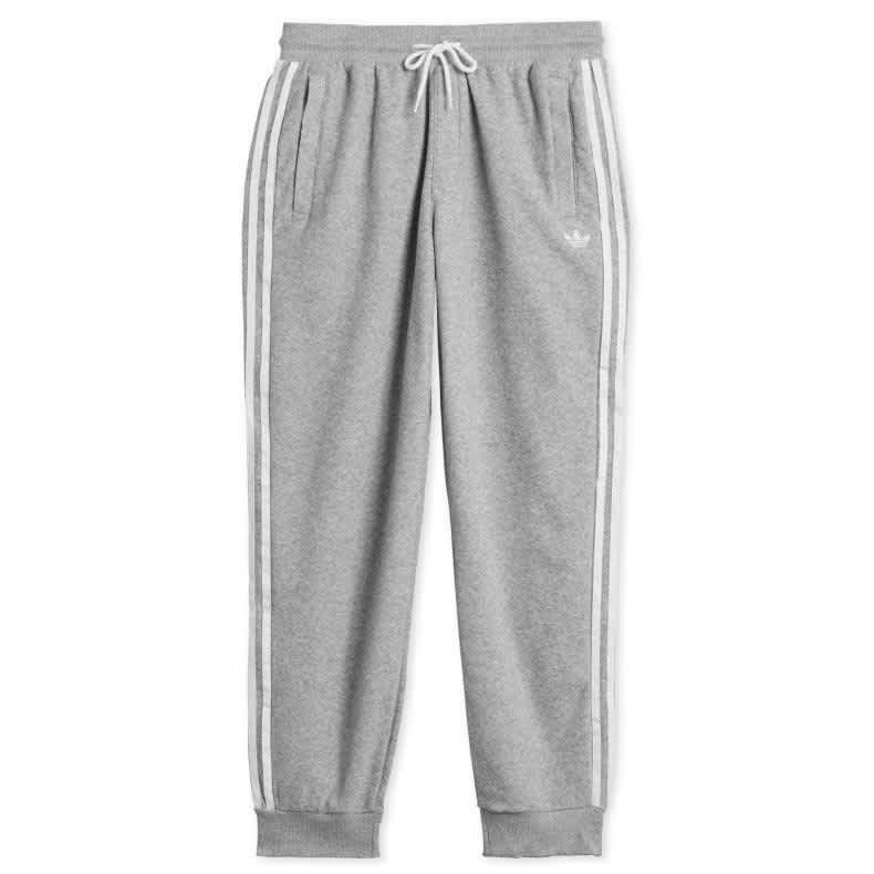Adidas - Bouclé SST Tracksuit Bottoms - Medium Grey Heather / White | Sweatpants by adidas Skateboarding 1