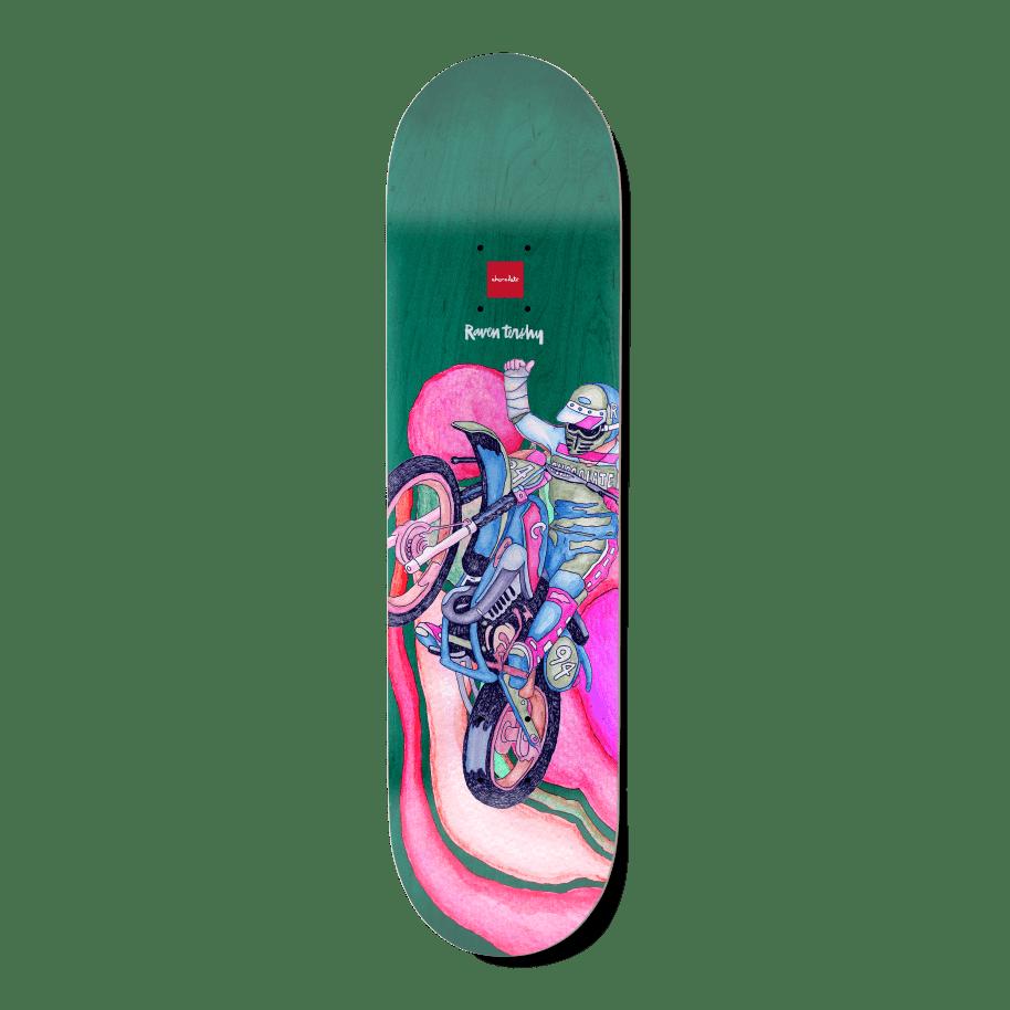 "Chocolate Psych Bike One Off Raven Tershy Skateboard Deck - 8.25"" | Deck by Chocolate Skateboards 1"