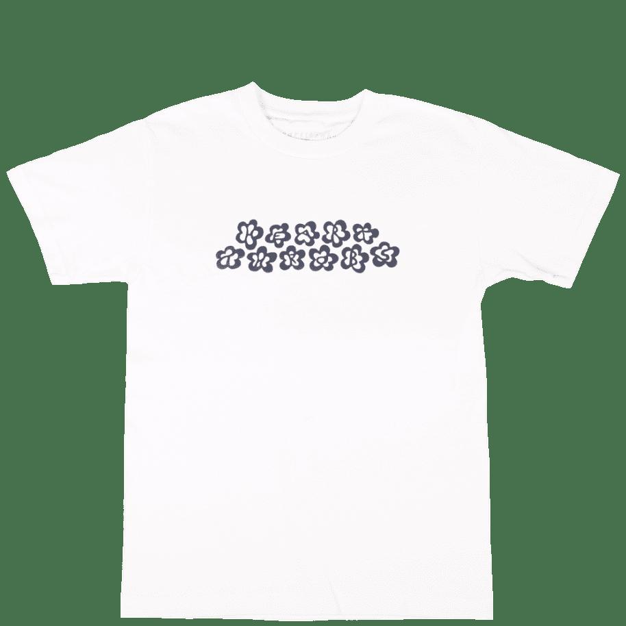 Heartthrobs Flowers T-Shirt - White | T-Shirt by Heartthrobs Skateboards 1