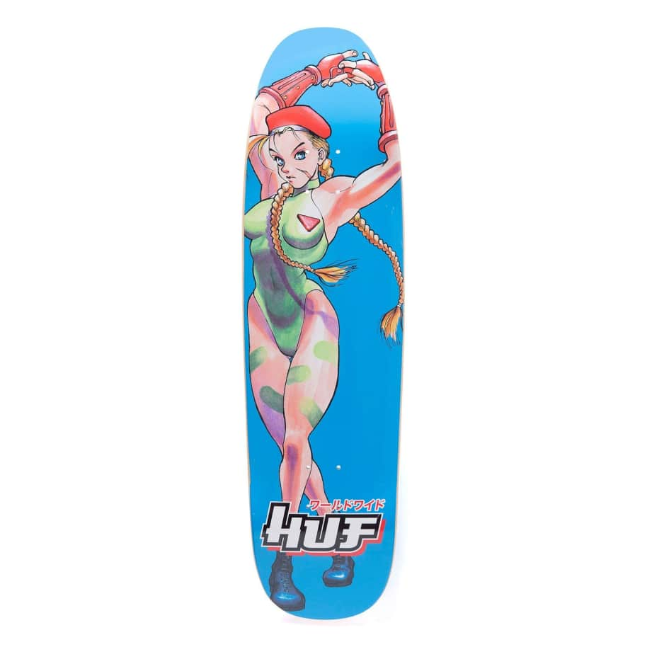 HUF x Street Fighter Cammy Cruiser Skateboard Deck - 8.5"