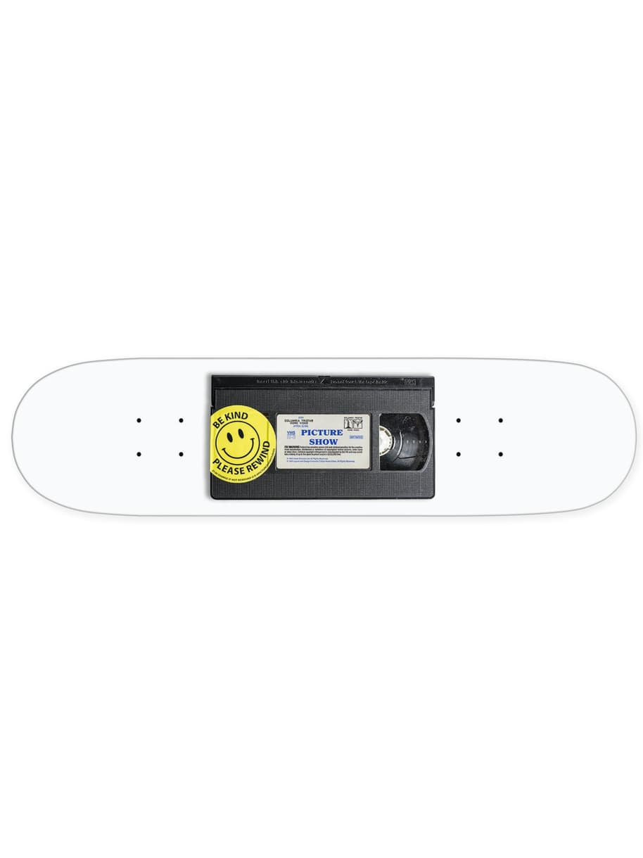 "PICTURE SHOW-""CASSETTE SKATE BOARD DECK""(WHITE) 