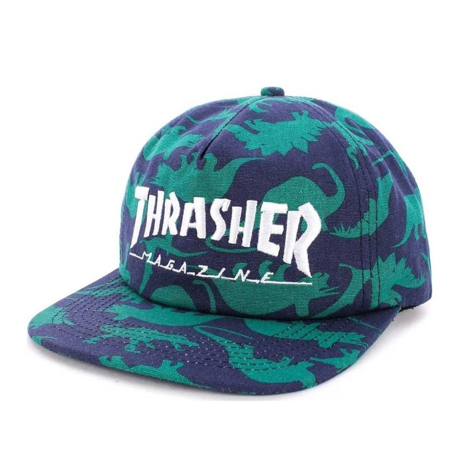 Thrasher Mag Logo Snapback Hat - Dino Print | Snapback Cap by Thrasher 1