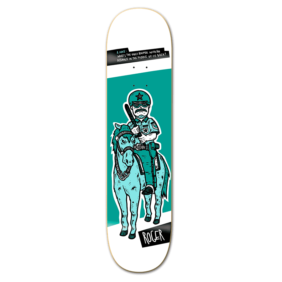 "Roger Skate Co Police Horse Deck 8.0""   Deck by Roger Skate Co. 1"