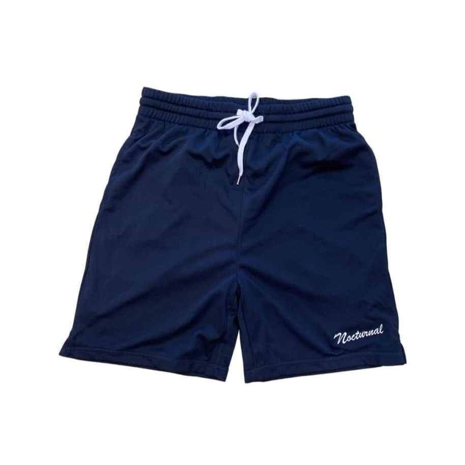 Nocturnal Script Logo Shorts (Navy) | Shorts by nocturnal 1