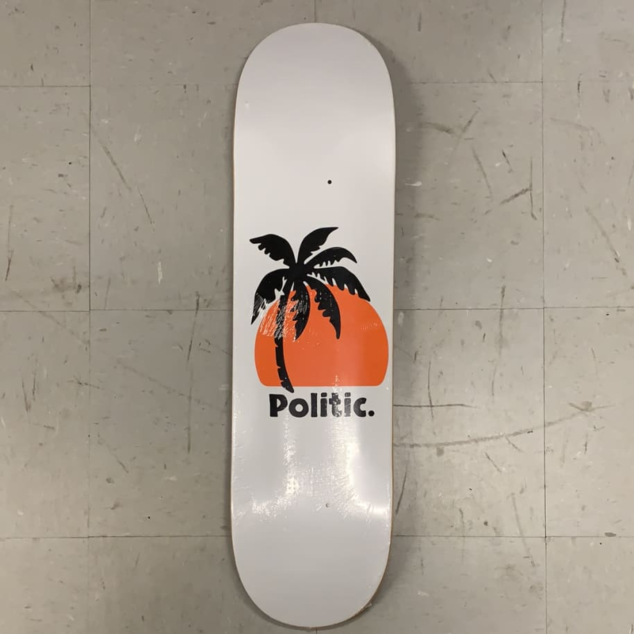 Politic Skateboards Palm Tree Deck | Deck by Politic 1