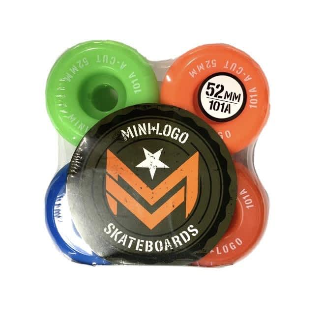 "Mini-Logo Skateboards A-cut ""2"" Wheels 52mm 101a Assorted 