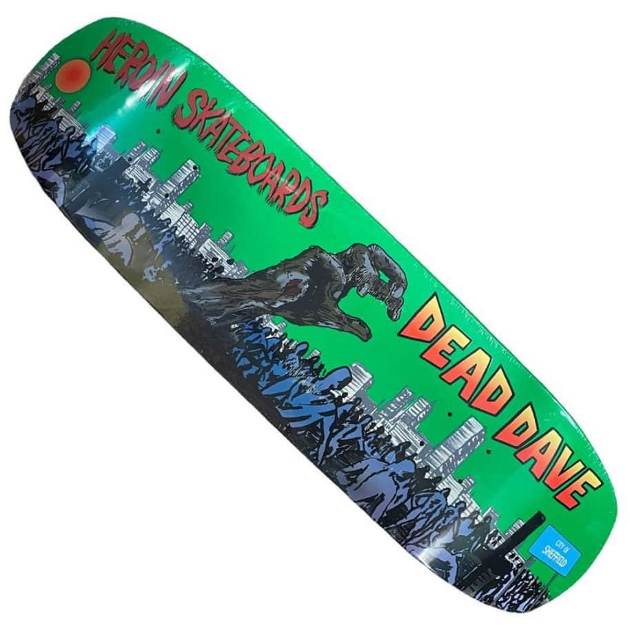Heroin Deck Dead Dave Double Shovel 9x31.8 Shaped | Deck by Heroin Skateboards 1