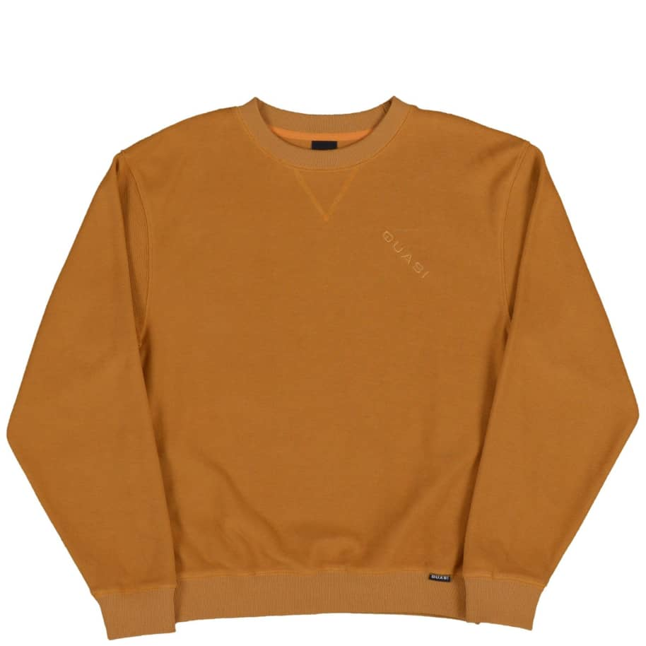 Quasi Terry Crew Sweat - Gold | Sweatshirt by Quasi Skateboards 1