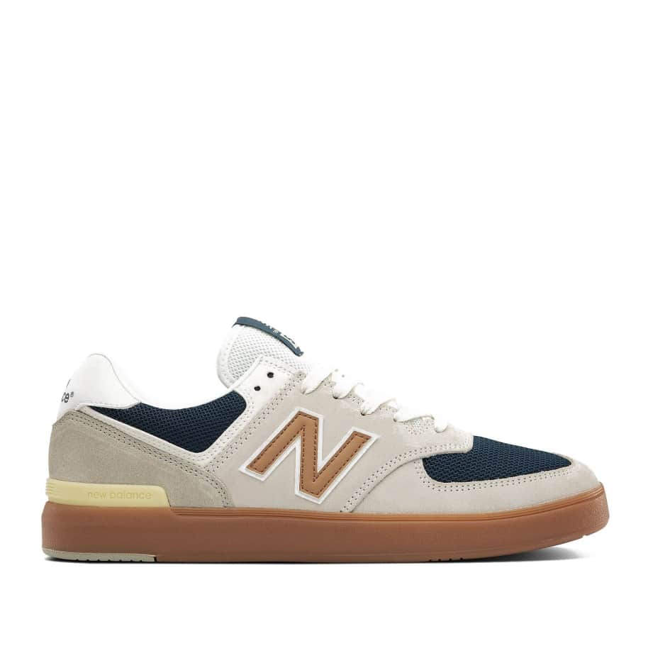New Balance All Coasts 574 Shoes - White / Gold | Shoes by New Balance 1