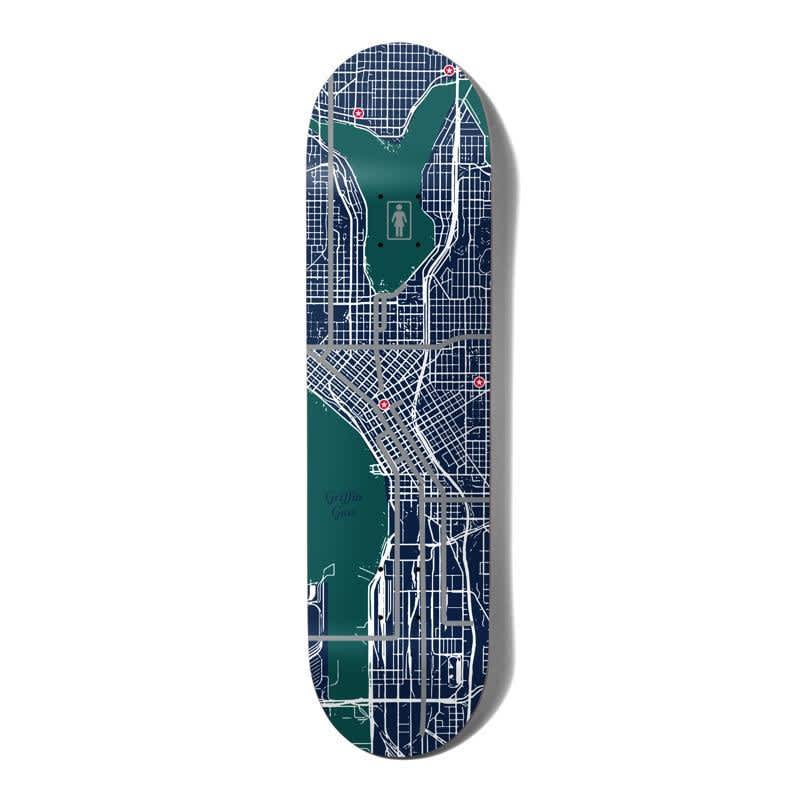 """Girl Skateboards Pin Point One Off Griffin Gass Skateboard Deck 8.25""""   Deck by Girl Skateboards 1"""