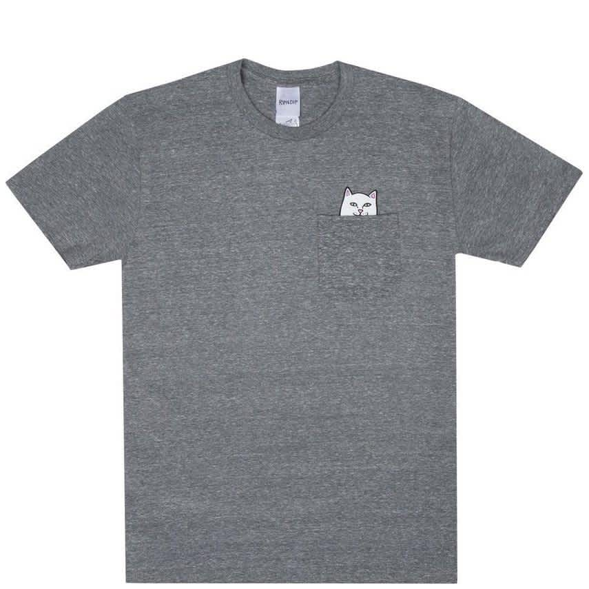 Ripndip Lord Nermal Pocket T-Shirt - Grey | T-Shirt by Ripndip 1