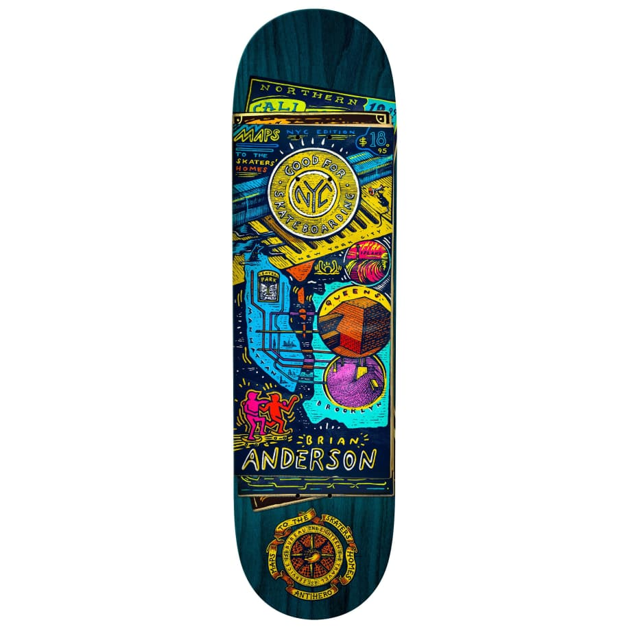 "Anti-Hero | 8.75"" Brian Anderson Maps/Homes 