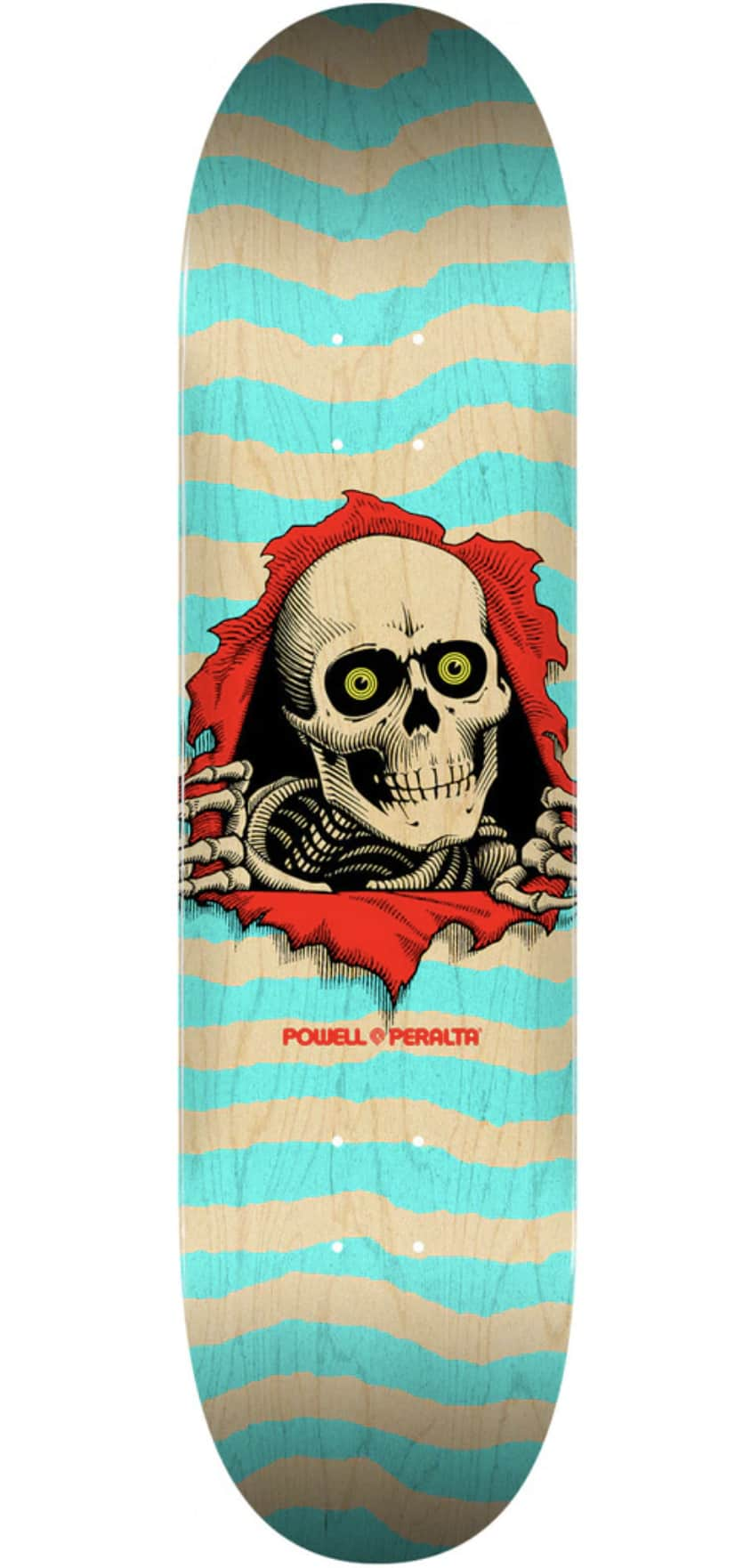 Powell Peralta Ripper Deck - Natural/Turquoise 8.0   Deck by Powell Peralta 1