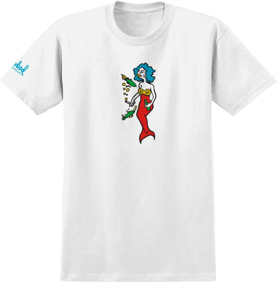 KROOKED Mermaid Tee White/Blue   T-Shirt by Krooked Skateboards 1