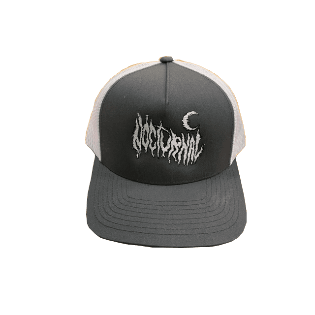 Nocturnal Metal Logo Trucker Cap (Grey/White) | Trucker Cap by nocturnal 1
