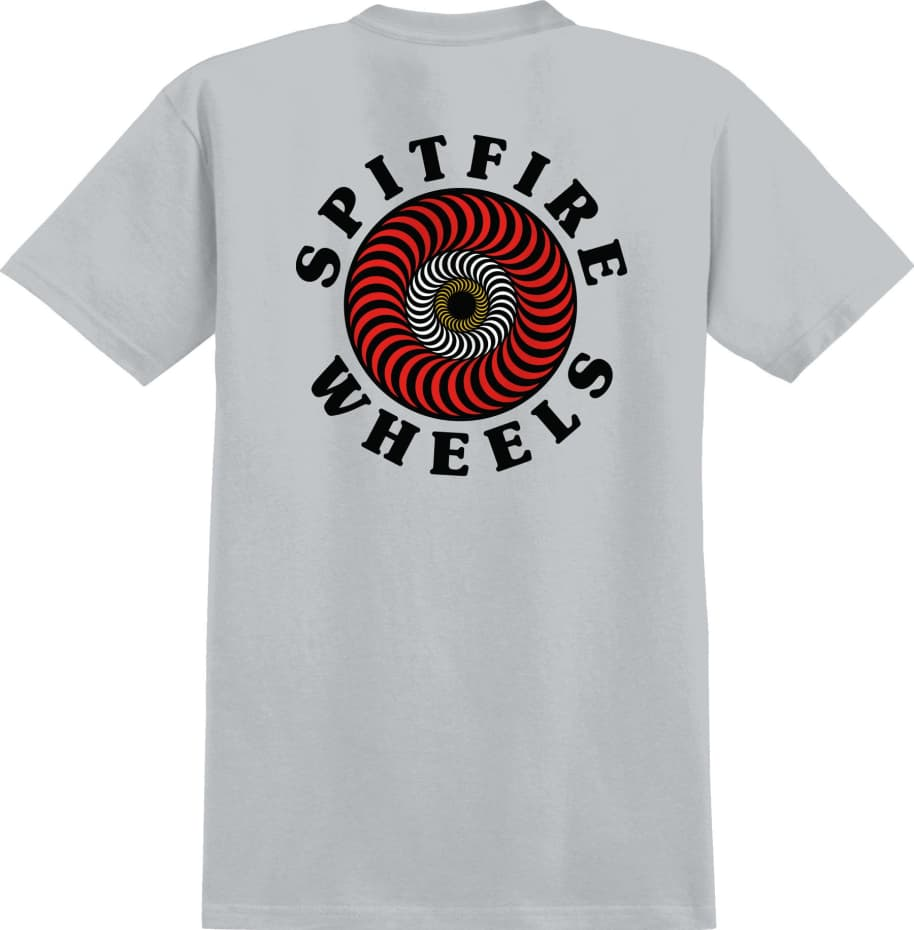 SPITFIRE OG Classic Fill Tee Silver   T-Shirt by Spitfire Wheels 1