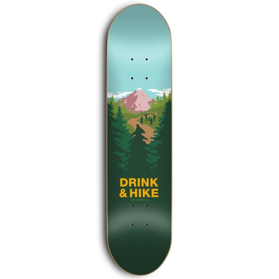 Skate Mental Drink & Hike Skateboard Deck 8.3"