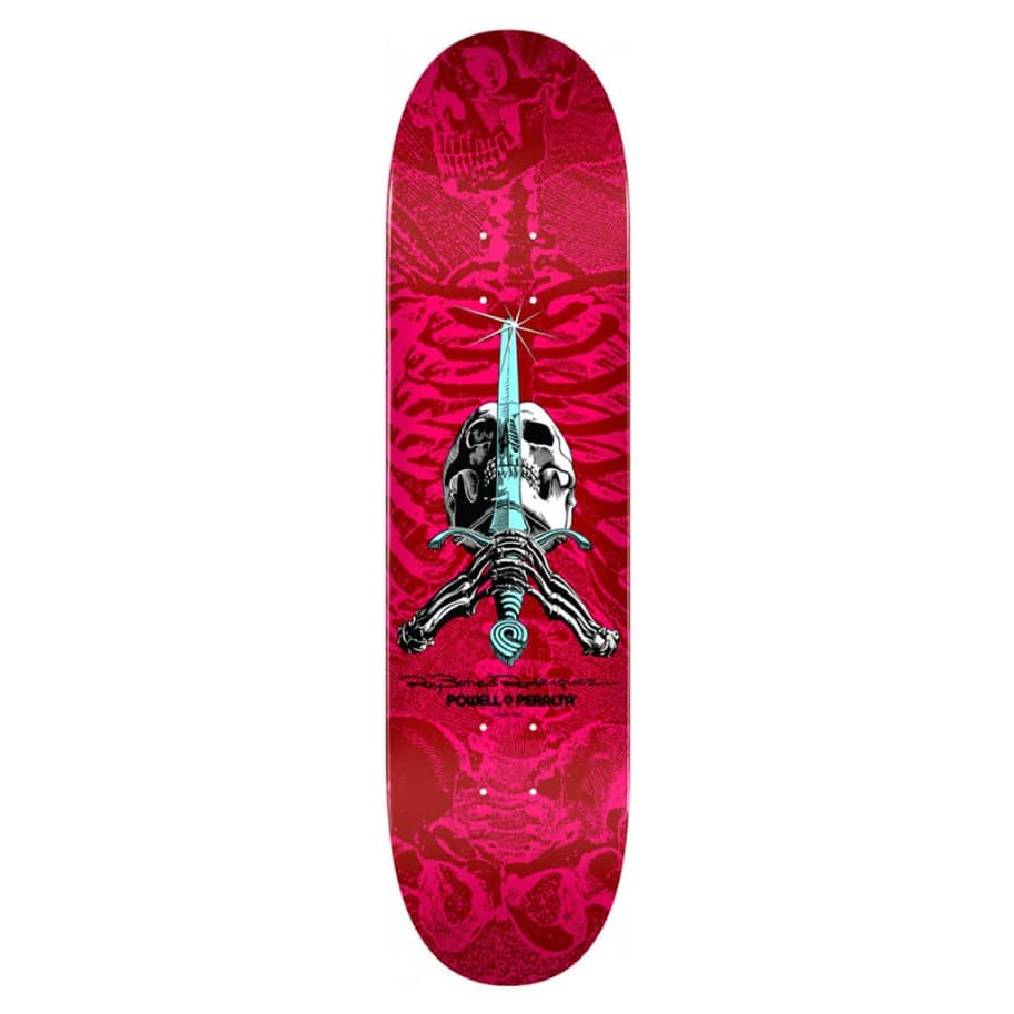 Skull and Sword - Red/Pink - 8.5 | Deck by Powell Peralta 1