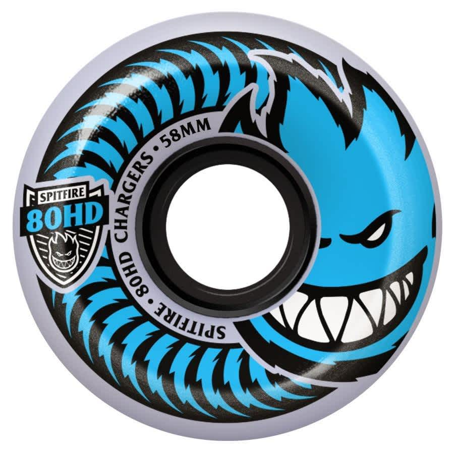 Spitfire Charger 56mm 80HD Conical Wheels (Clear) | Wheels by Spitfire Wheels 1