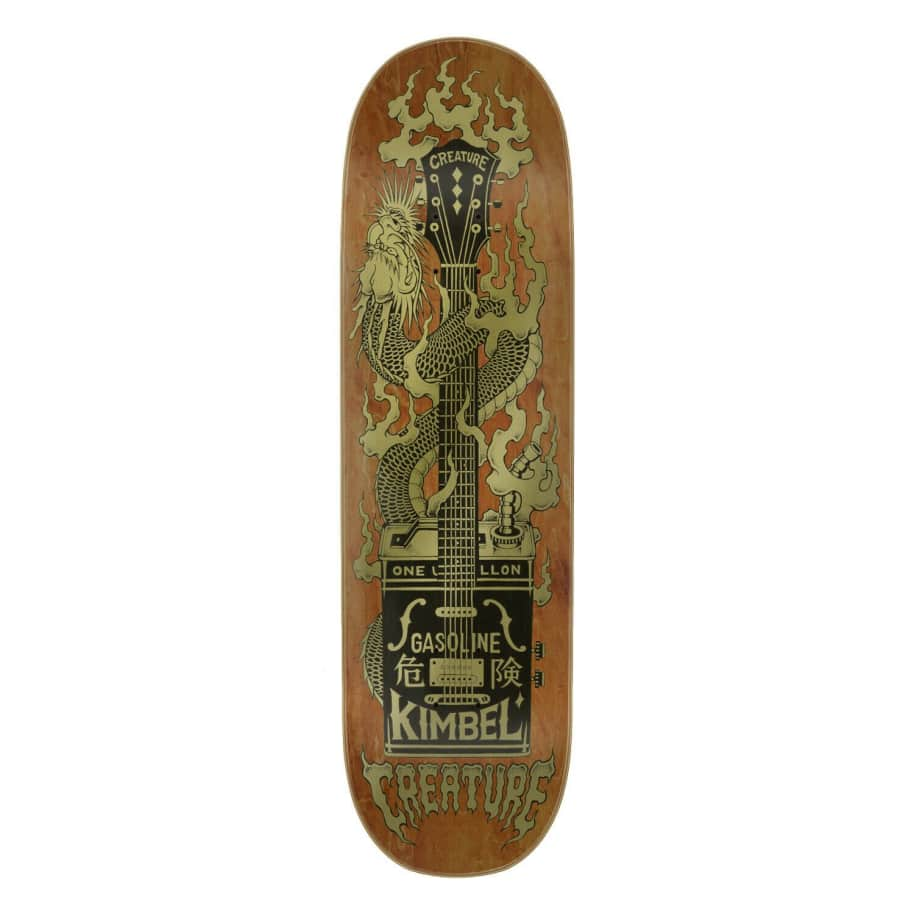 CREATURE KIMBEL GAS CAN FLAME DECK - 9.0 | Deck by Creature Skateboards 1