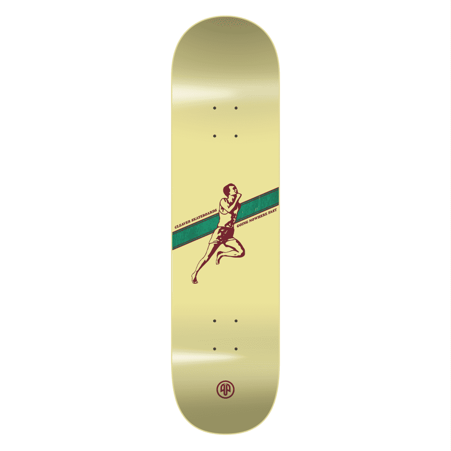"""Cleaver Skateboards - 8.375"""" Going Nowhere Fast Deck - Yellow 