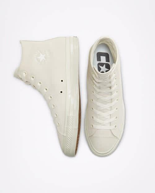 Converse CONS CTAS Pro High Top Shoes - Egret / Egret / Gum | Shoes by Converse Cons 3